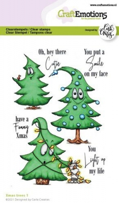 Xmas Trees #1, Clearstamp - CraftEmotions