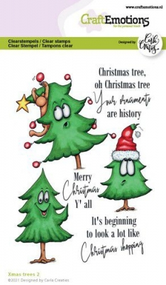 Xmas Trees #2, Clearstamp - CraftEmotions