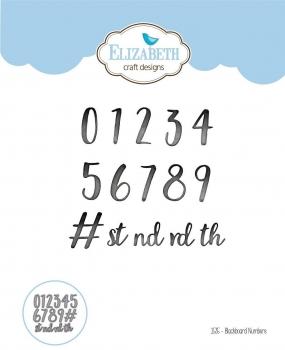 Blackboard Numbers, Stanze - Elizabeth Craft Design