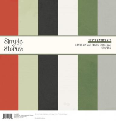 Vintage Rustic Christmas 12x12 Basic Kit- Simple Stories