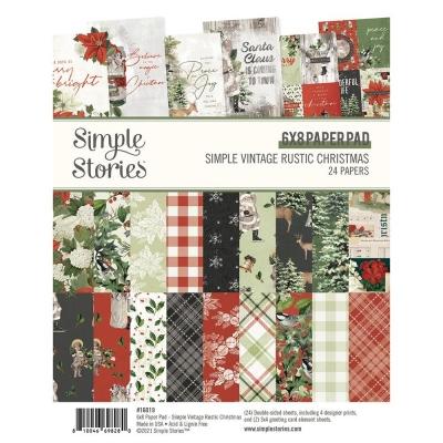 Vintage Rustic Christmas 6x8 Paperpad - Simple Stories