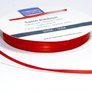 Satinband 3mm, Mohnrot - Vaessen