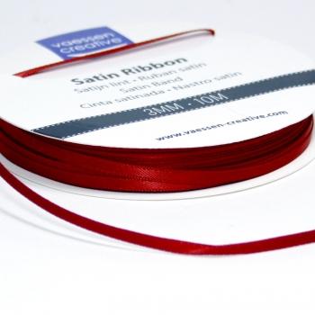 Satinband 3mm, Dunkelrot - Vaessen