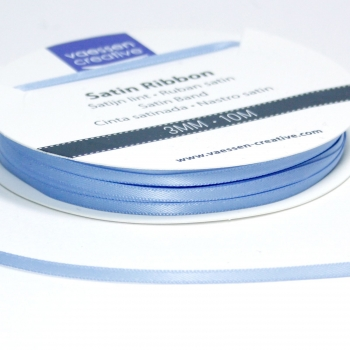 Satinband 3mm, Hellblau - Vaessen