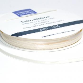 Satinband 3mm, Elfenbein - Vaessen