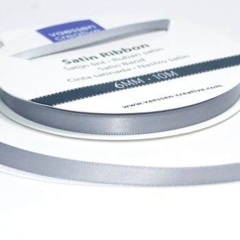 Satinband 6mm, Silber - Vaessen