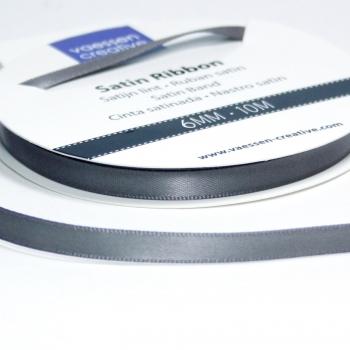 Satinband 6mm, Stahl - Vaessen