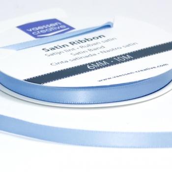 Satinband 6mm, Hellblau - Vaessen
