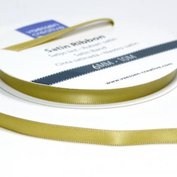 Satinband 6mm, Gold - Vaessen