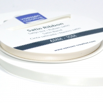 Satinband 6mm, Elfenbein - Vaessen