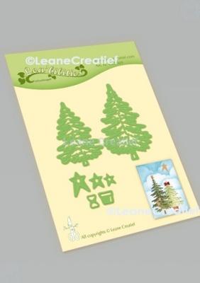 Weihnachtsbäume, Stanze - Leane Creatief
