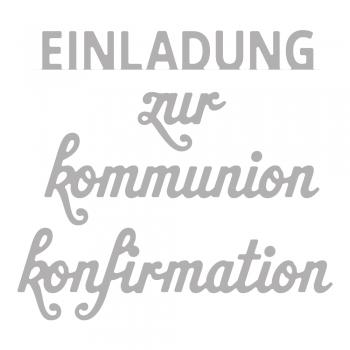 Einladung zur Kommunion/Konfirmation, Stanze - Rayher
