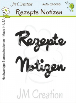 Rezepte / Notizen, Stanze - JM Creation