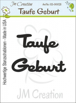 Taufe / Geburt, Stanze - JM Creation