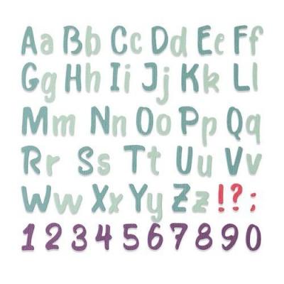 Bold Brush Alphabet Thinlits, Stanze - Sizzix
