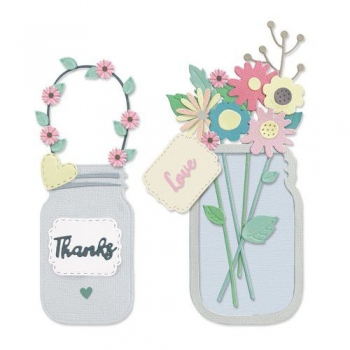 Jar of Flowers Thinlits, Stanze - Sizzix
