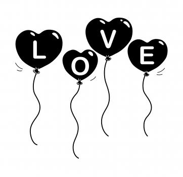 Love Balloon, Holzstempel - Artemio