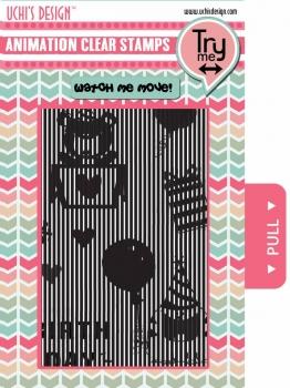 Animation Clear Stamp Happy Birthday - Uchi's Design