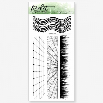 Tall Grass and Waves with Tiles and Wood Floors, Clearstamp – Picket Fence