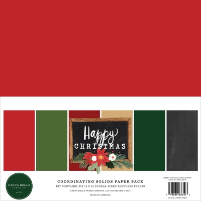 Happy Christmas 12x12 Coordinating Solids - Carta Bella