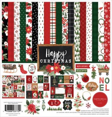 Happy Christmas 12x12 Collection Kit - Carta Bella