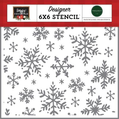 Happy Snowflakes, Schablone - Carta Bella
