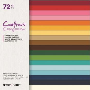 All Occasions Cardstock Brights 8x8 Paperpad - Crafter's Companion