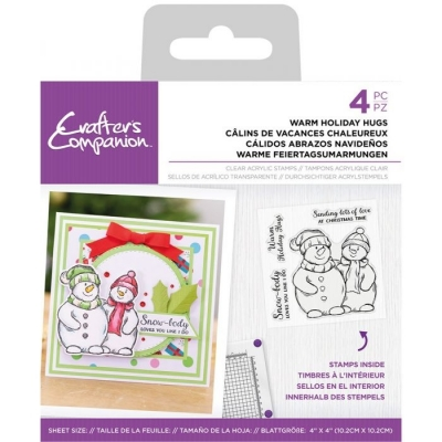 Warm Holiday Hugs, Clearstamps - Crafter's Companion