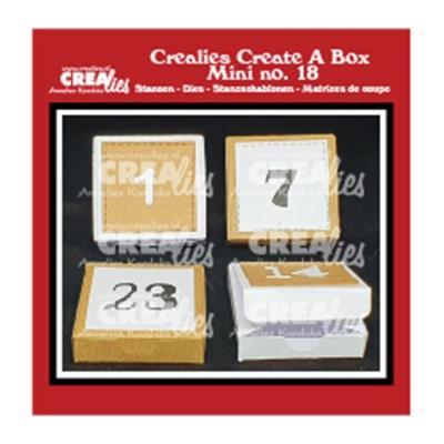 Adventkalenderbox mit Zahlen, Stanze - Crealies