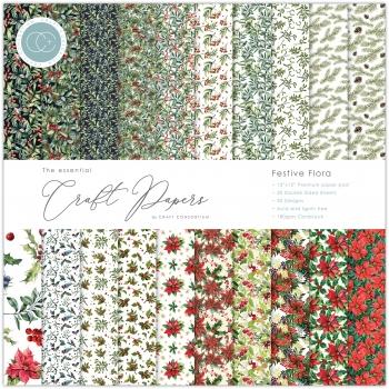 Festive Floral 12x12 Paper Pad - Craft Consortium