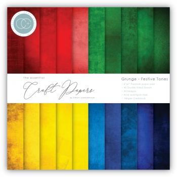 Grunge Festive Tones 6x6 Paper Pad - Craft Consortium