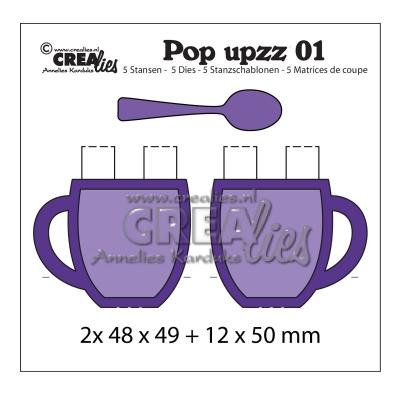 Pop-Up Tasse mit Löffel, Stanze - Crealies