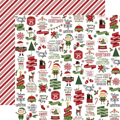 Christmas Magic, Christmas Cheer, Designpapier - Echo Park