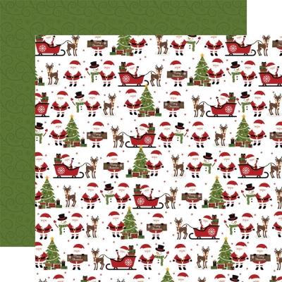 Christmas Magic, North Pole Nights, Designpapier - Echo Park