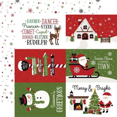 Christmas Magic, Journaling Cards, Designpapier - Echo Park