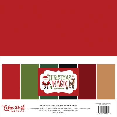 Christmas Magic 12x12 Coordinating Solids - Echo Park