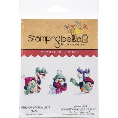 Penguins Bearing Gifts, Clingstamp - Stamping Bella