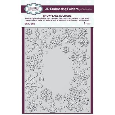 Snowflake Soliltude, 3D Prägeschablone - Creative Expressions