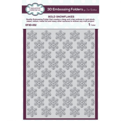 Bold Snowflakes, 3D Prägeschablone - Creative Expressions
