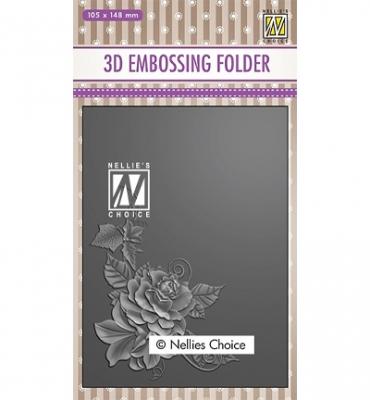 Rose Corner, Prägeschablone - Nellie's Choice
