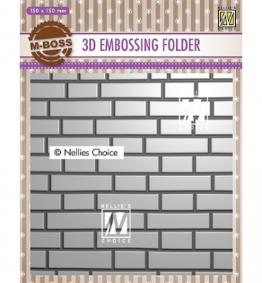 Brick Wall, Prägeschablone - Nellie's Choice