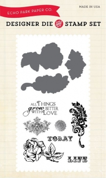 Things Grow Better With Love, Stempel & Stanzenset - Echo Park