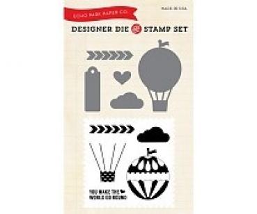 Hot Air Balloon, Stempel & Stanzenset - Echo Park