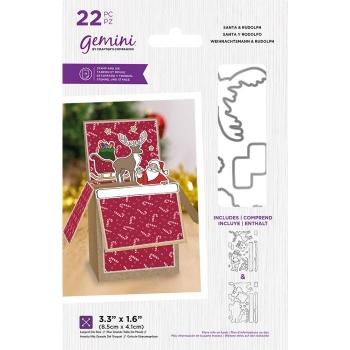 Santa & Rudolph, Stempel- & Stanzenset - Gemini