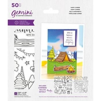 Happy Camper, Stempel- & Stanzenset - Gemini