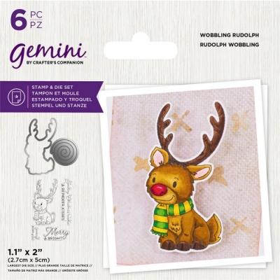 Wobbling Rudolph, Stempel- & Stanzenset - Gemini