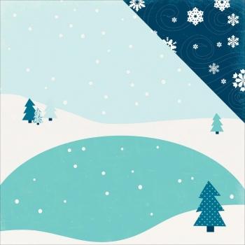 Hello Winter, Frigid Blizzard, Designpapier - Echo Park