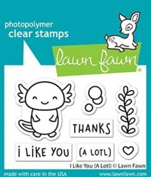 I Like You (A Lotl), Clearstamp - Lawn Fawn