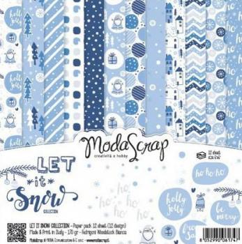 Let It Snow 6x6 Paperpack - ModaScrap