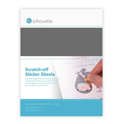 Scratch-off Sticker Sheets, Silver - Silhouette